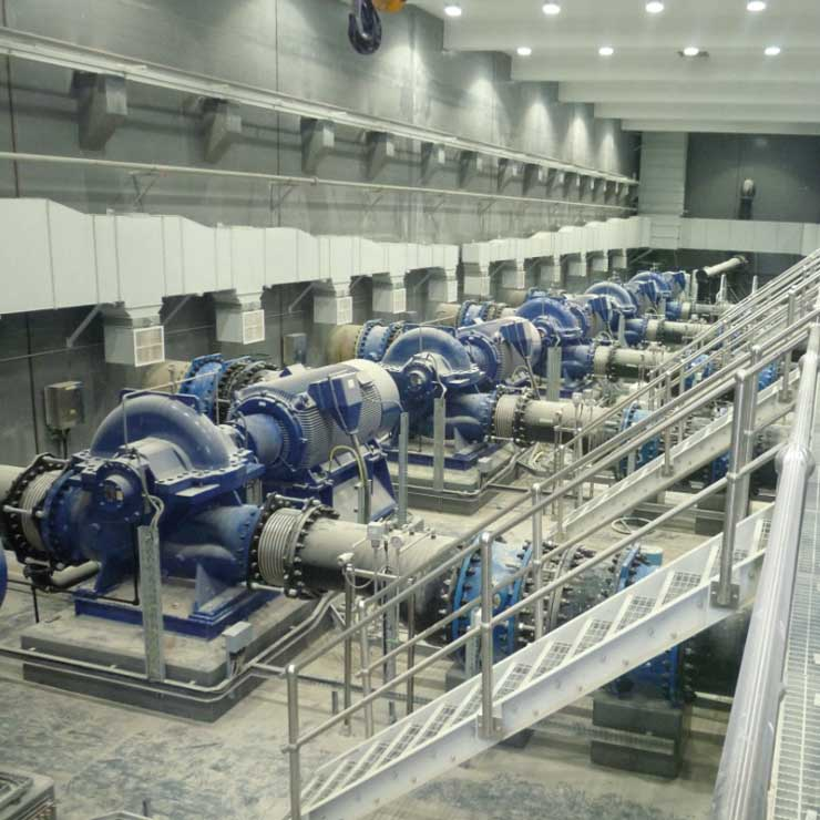 VAG valves for Wastewater treatment in Jebel Ali/Dubai