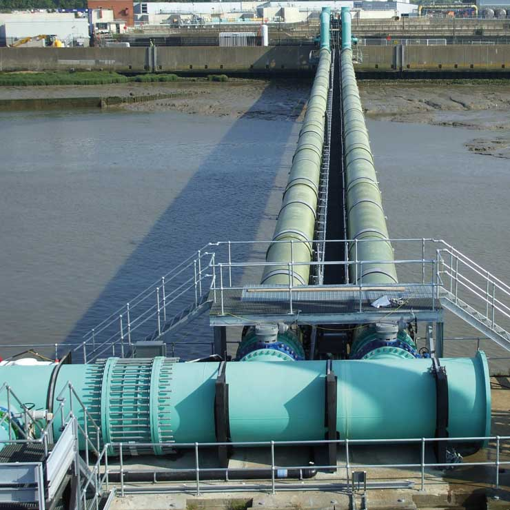 Rubber-coated valves for the Thames Water Desalination Plant