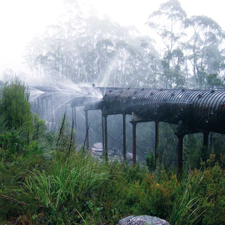Refurbishment of an historic water supply in Tasmania's wilderness